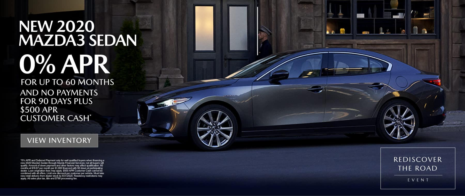 New 2020 Mazda3 - 0% APR for up to 60 months* - Click to View Inventory