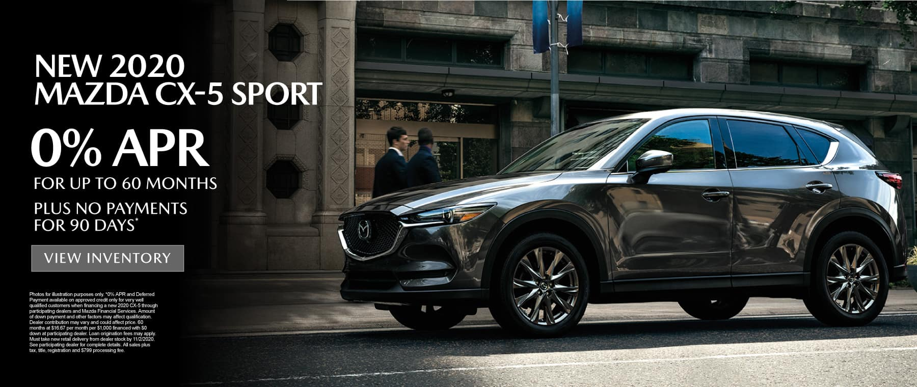 CX-5 0% APR for up to 60 months - click here to view inventory