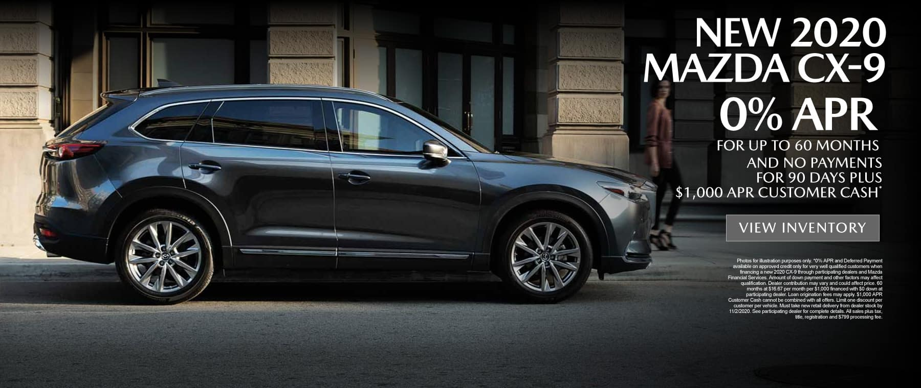 CX-9 0% APR for up to 60 months - click here to view inventory