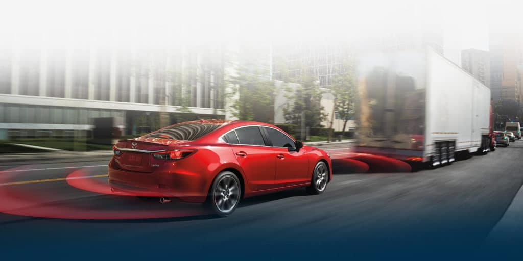 Mazda equips their cars with safety technology
