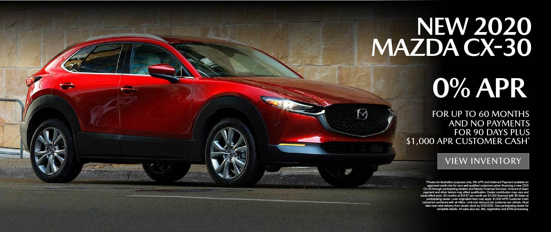 CX-30 0% APR for up to 60 months - click here to view inventory