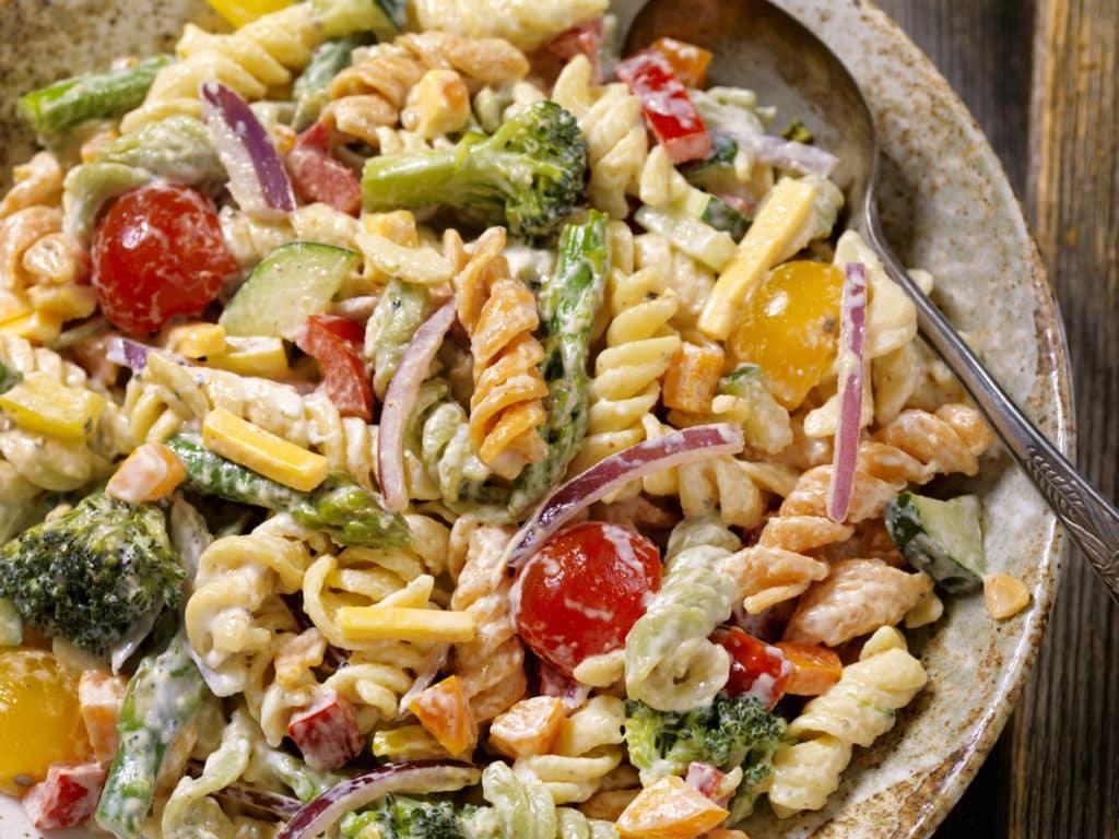 Creamy Rotini Pasta and Vegetable Salad