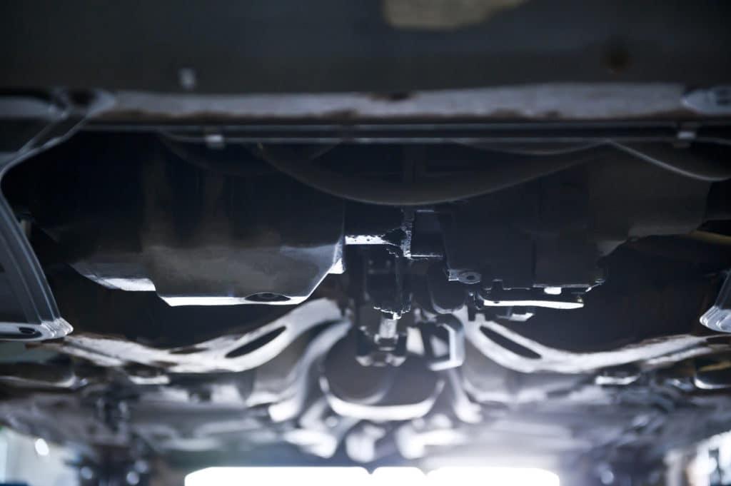 Underside of car