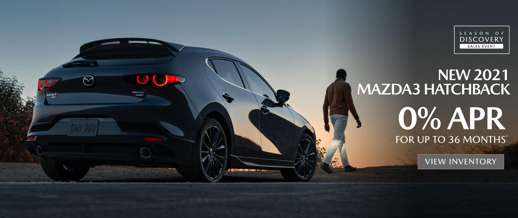 2021 Mazda3 Hatchback   0% APR for up to 36 months   View Inventory