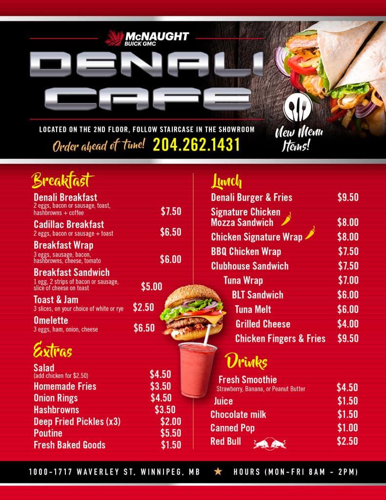 Denali Cafe Menu