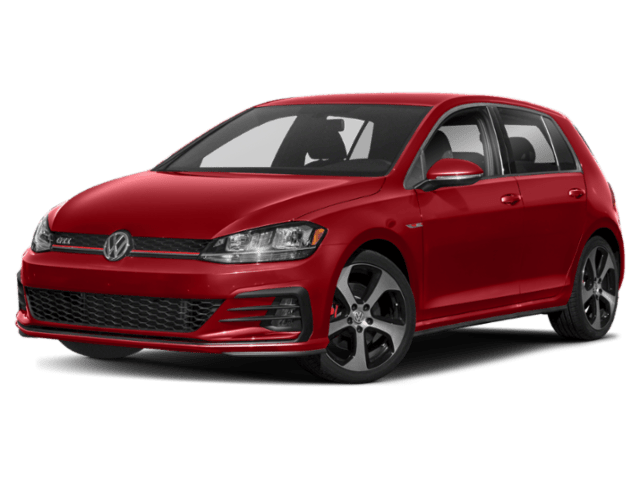 2021 VW GTI red angle