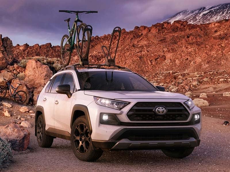 2020 Toyota RAV4 sport utility vehicle off road