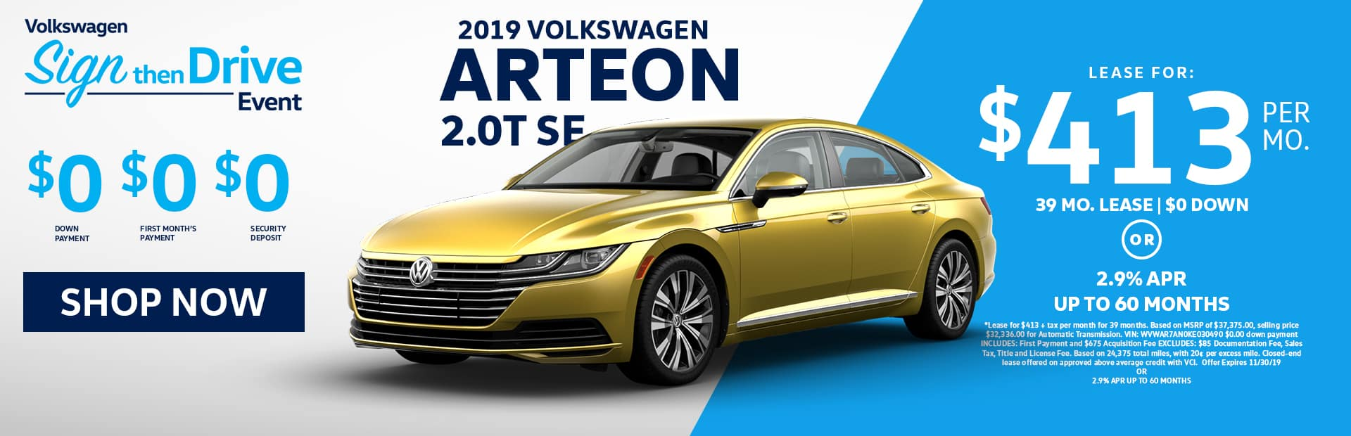 Nov Arteon lease Specials