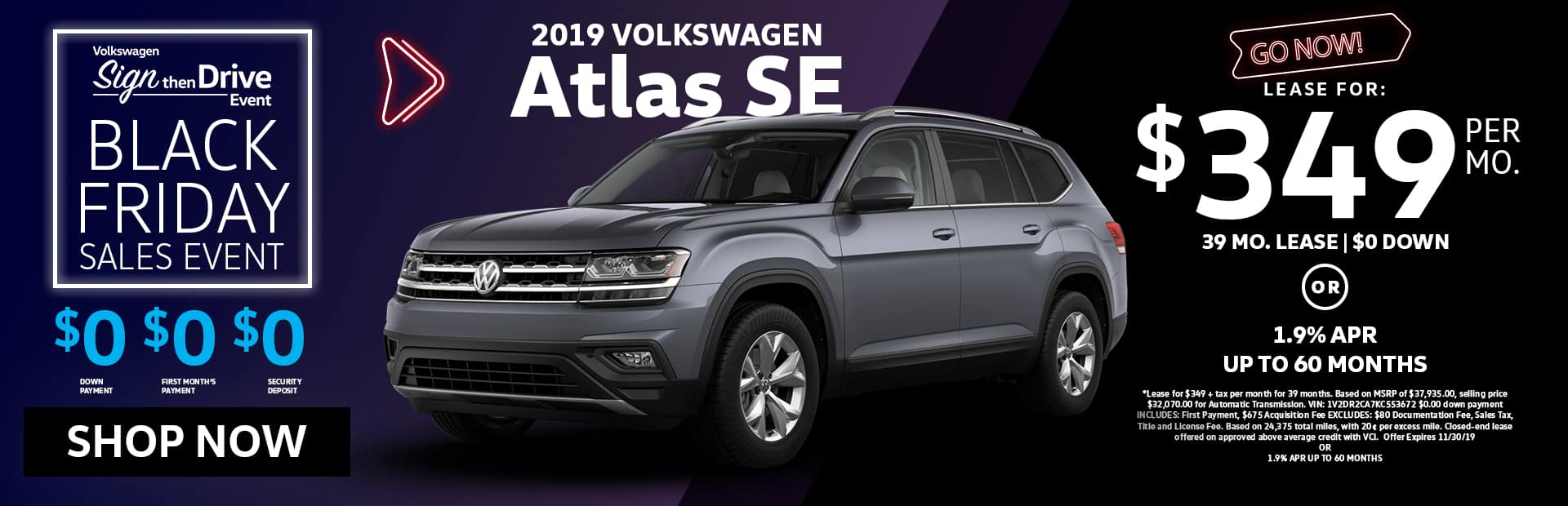 vw atlas lease for sale