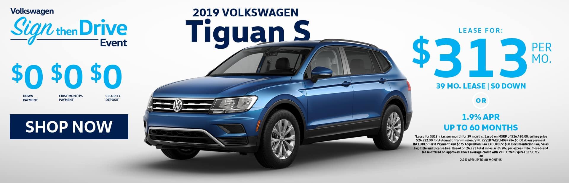 Nov Tiguan Lease Special