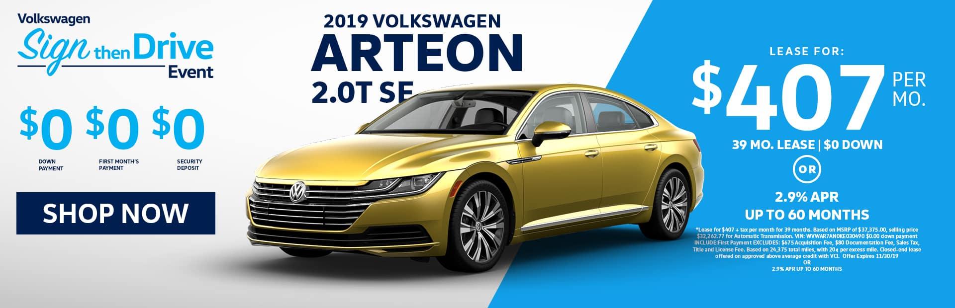 VW arteon se lease for sale near me in Glendale ca
