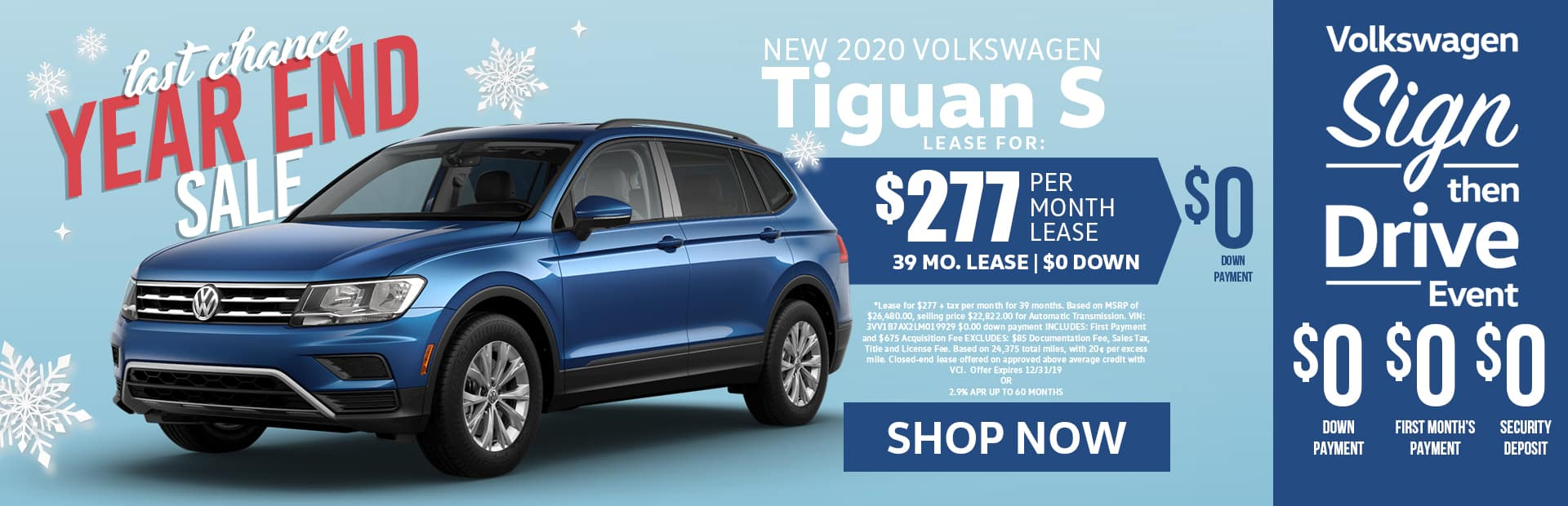 tiguan S lease special