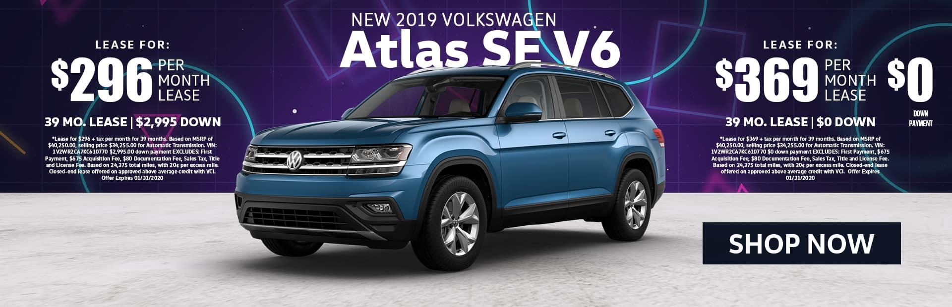 VW Atlas SE lease special