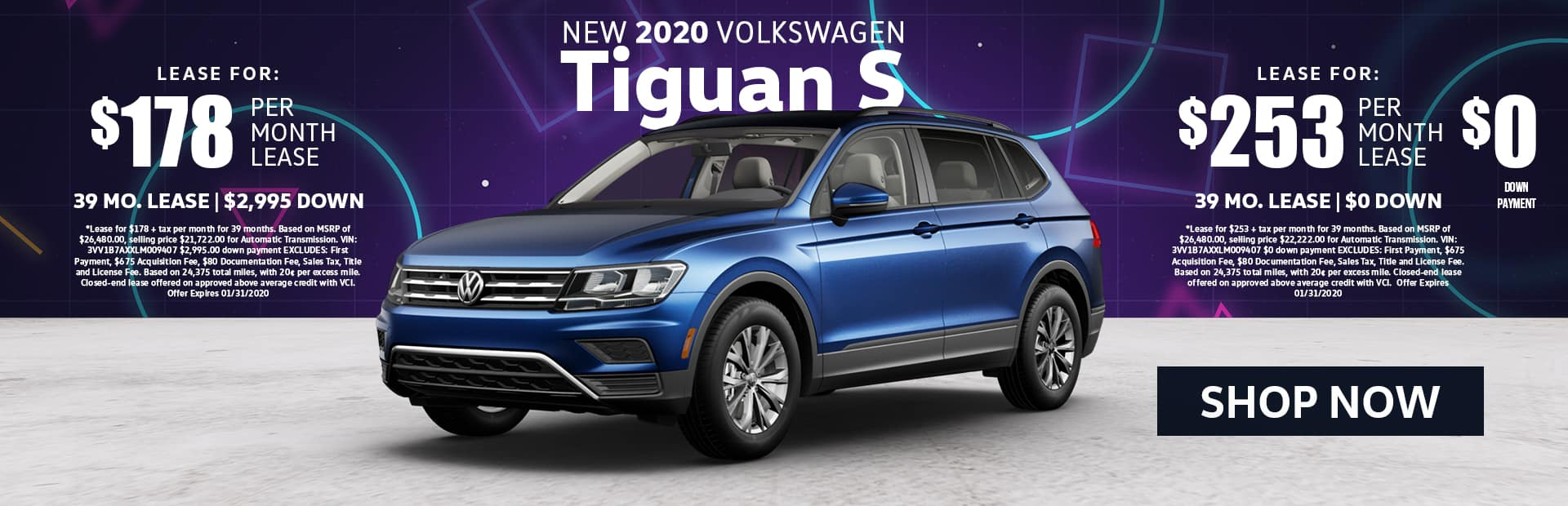 New 2020 Tiguan Lease Special