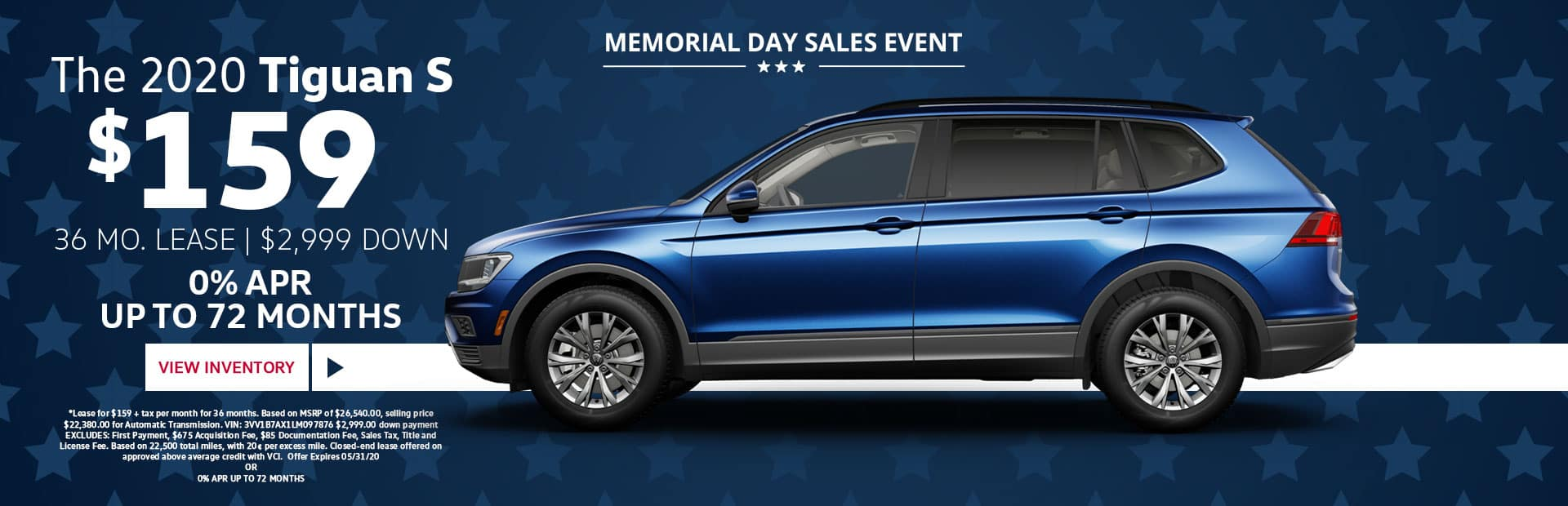 2020 tiguan lease special memorial day sale