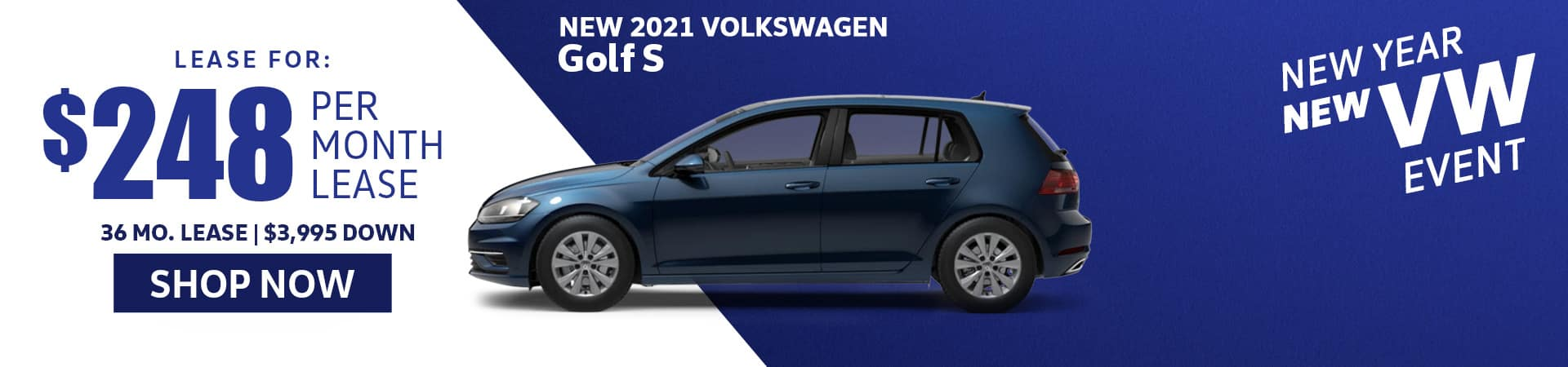 New 2021 golf s lease special