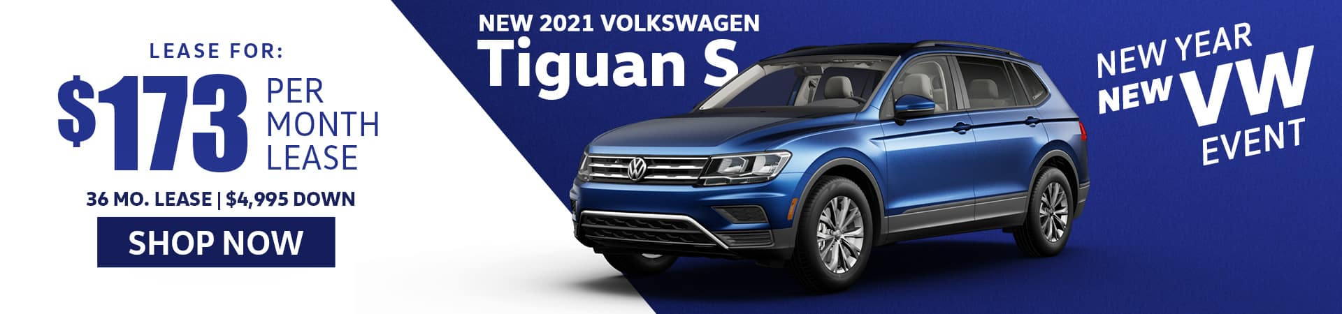 New 2021 Tiguan S Lease Special