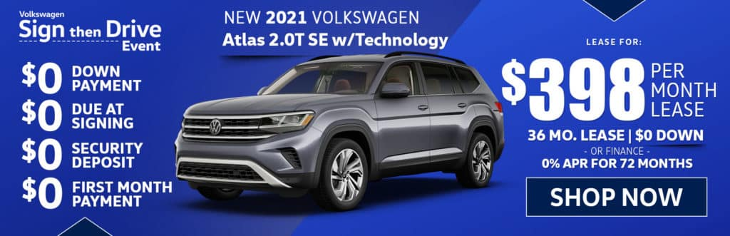 New 2021 Volkswagen Atlas 2.0T SE w/Technology 2021.5 2.0T SE w/Technology 4MOTION