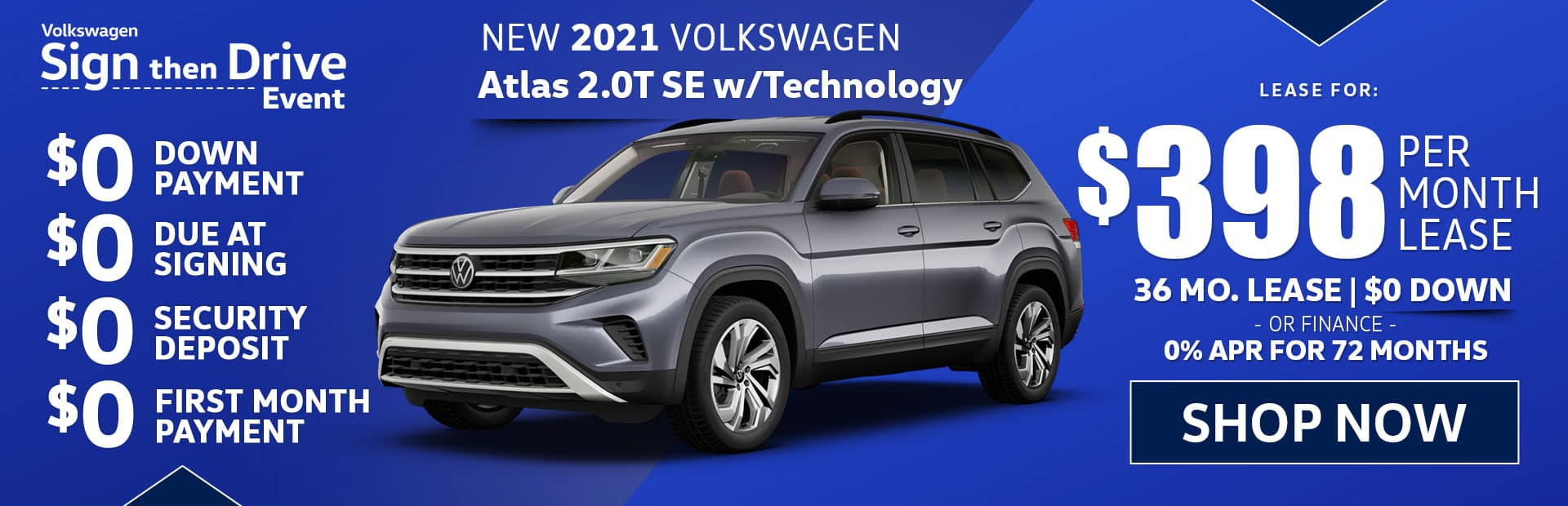 new 2021 vw atlas se lease special in los angeles california