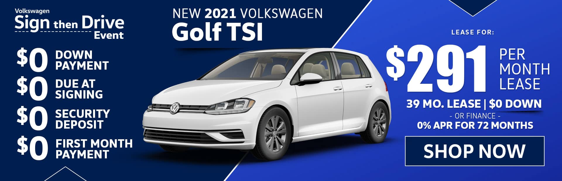 new 2021 vw golf tsi s lease special in los angeles california