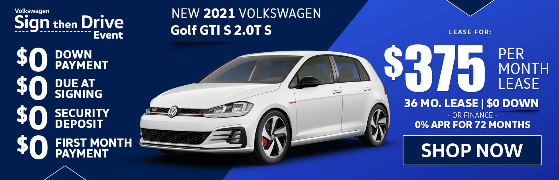 new golf GTI S lease special in los angeles california
