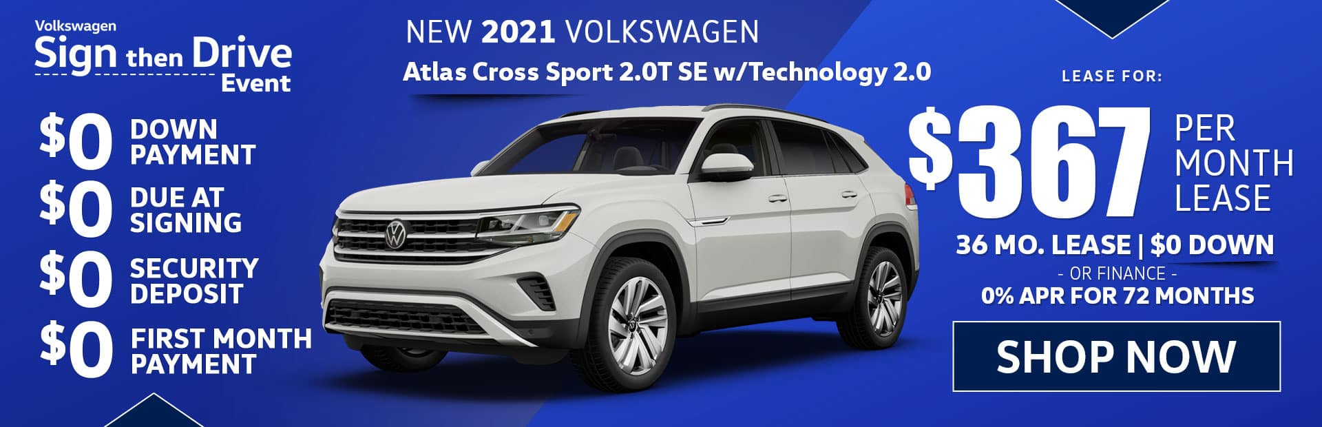 new 2021 vw atlas cross sport s lease special in los angeles best price