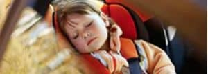Child sleeping in carseat