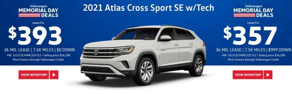 New 2021 Volkswagen Atlas Cross Sport SE w/Tech