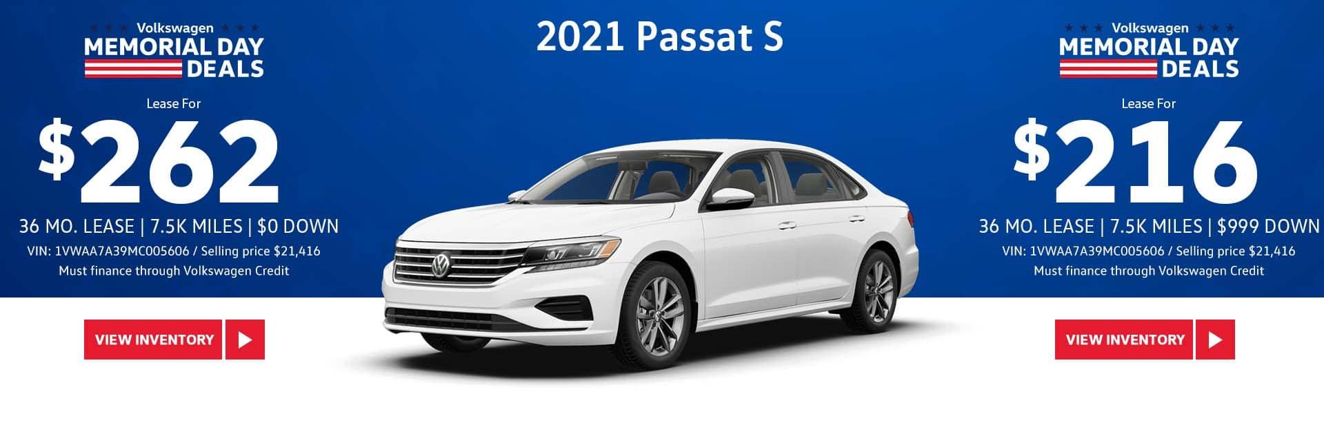 May Passat S Lease Offer Slide-Update