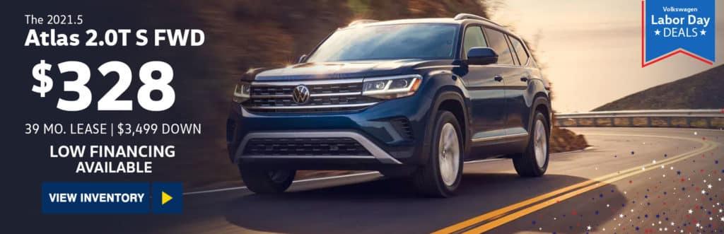 New 2021 Volkswagen Atlas 2021.5 2.0T S FWD