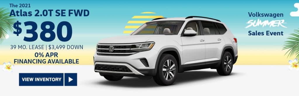 New 2021 Volkswagen Atlas 2021.5 2.0T SE FWD