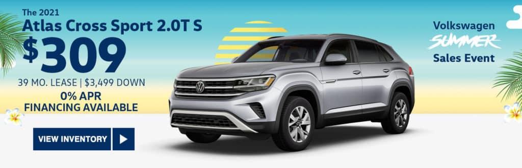 New 2021 Volkswagen Atlas Cross Sport 2.0T S FWD