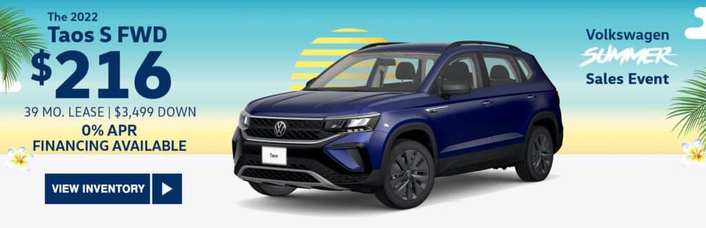 New 2022 Volkswagen Taos S FWD