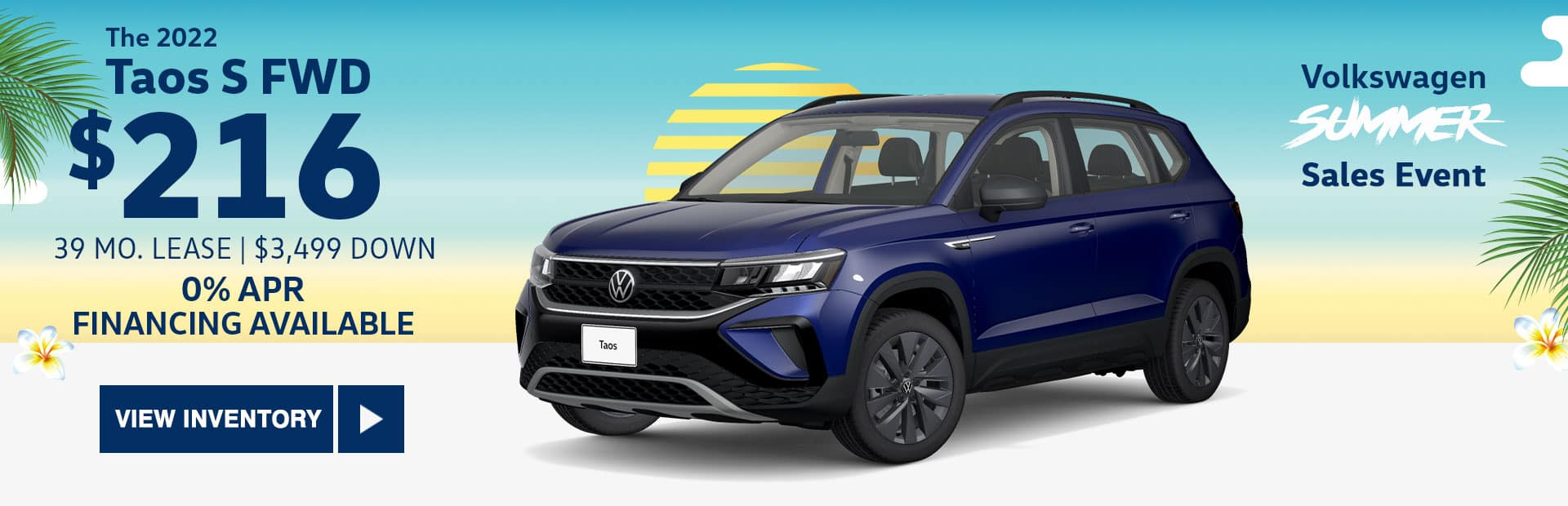 New 2022 VW Taos S lease special in glendale california