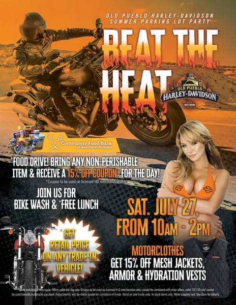 July 27th Event at Old Pueblo Harley-Davidson