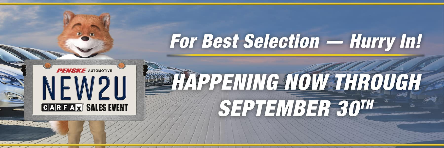 New To You Sales Event - Happening Now Through September 30!