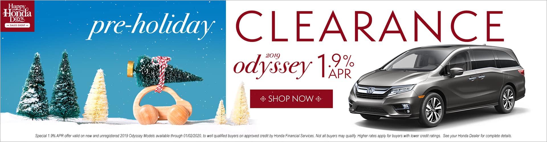 Happy Honda Days Honda Odyssey Pre Holiday Clearance Special APR Phil Hughes Honda Athens GA