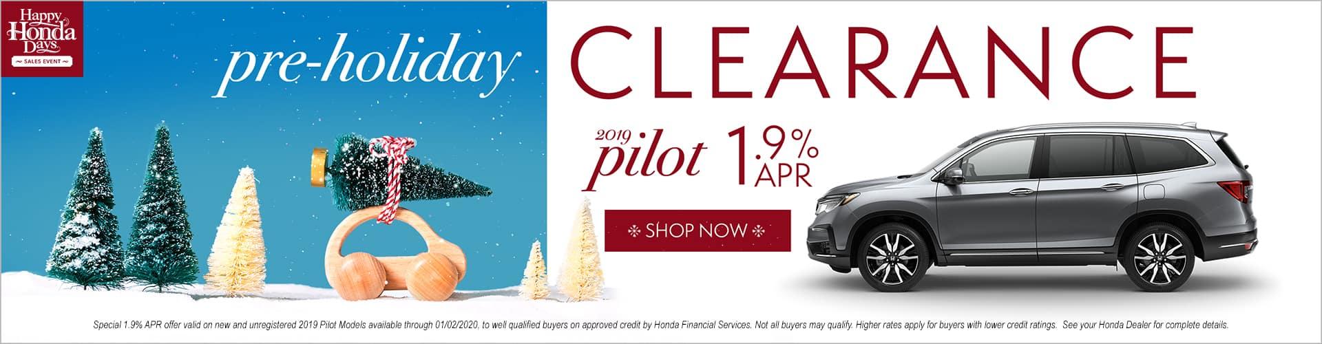Happy Honda Days Honda Pilot Pre Holiday Clearance Special APR Phil Hughes Honda Athens GA