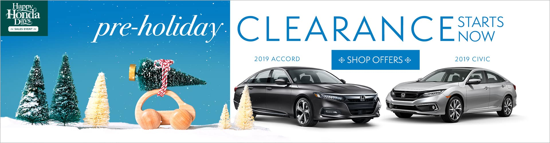 Honda Pre-Holiday Clearance on Honda Accord and Civic at Phil Hughes Honda in Athens GA