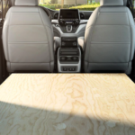 2020 Honda Odyssey interior cargo space with open trunk