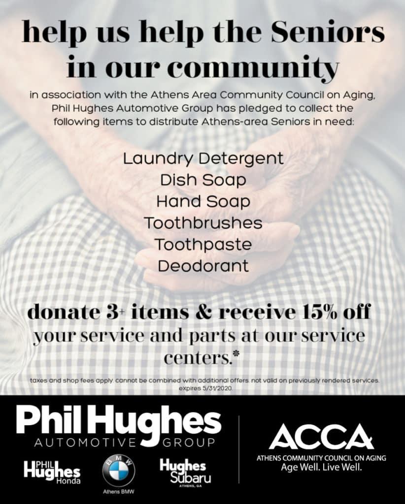 ACCA Meals on Wheels Senior Service Commodity Drive Phil Hughes Honda Athens GA