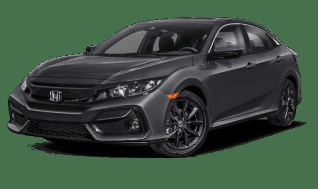 Black 2020 Honda CIvic EX Hatch