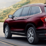 2020 honda pilot driving on mountain road in Atlanta