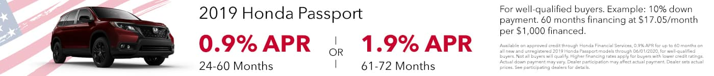 May 2020 - Honda Passport Offer