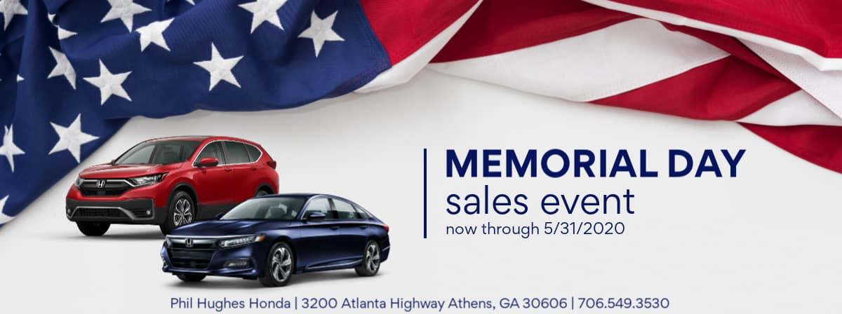 Phil Hughes Honda Memorial Day Sale 2020