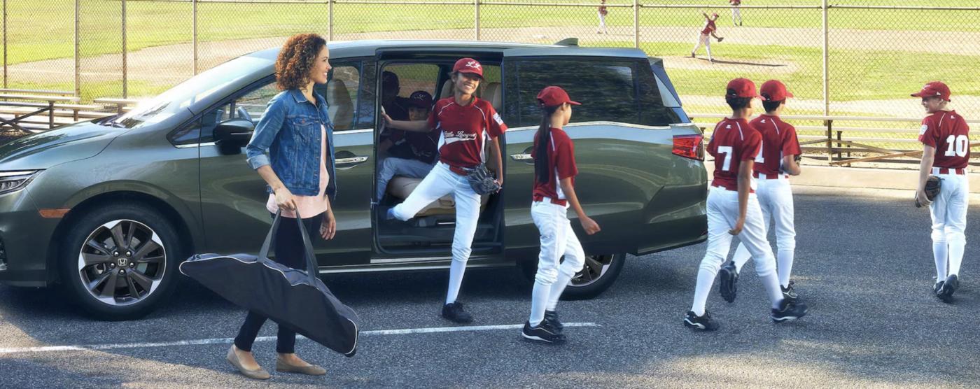 Honda Odyssey at baseball practice