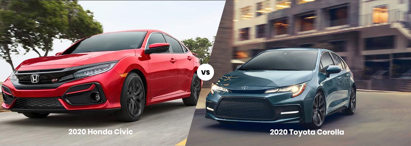 2020 Honda Civic vs.2020 Toyota Corolla