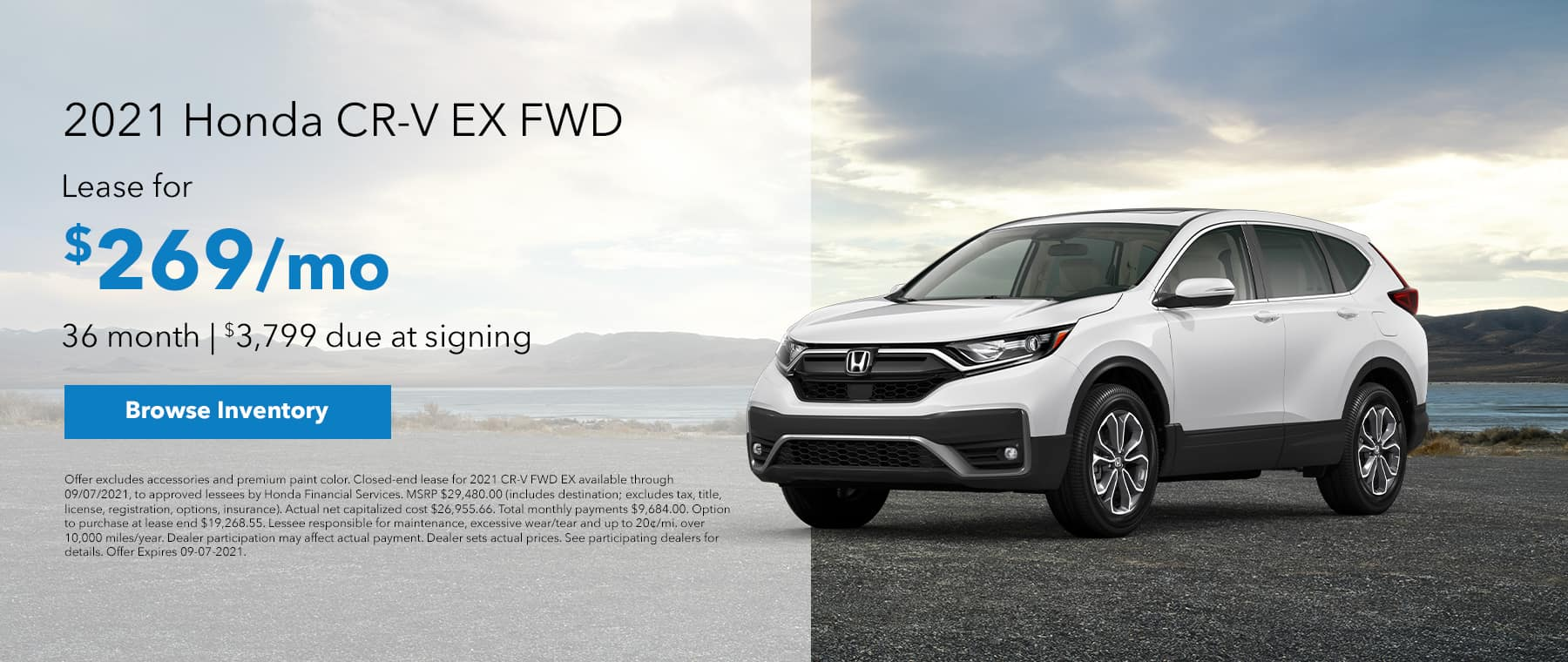 2021 Accord CVT LX. $239 Per month for 36 months. $2,899 due at lease signing.