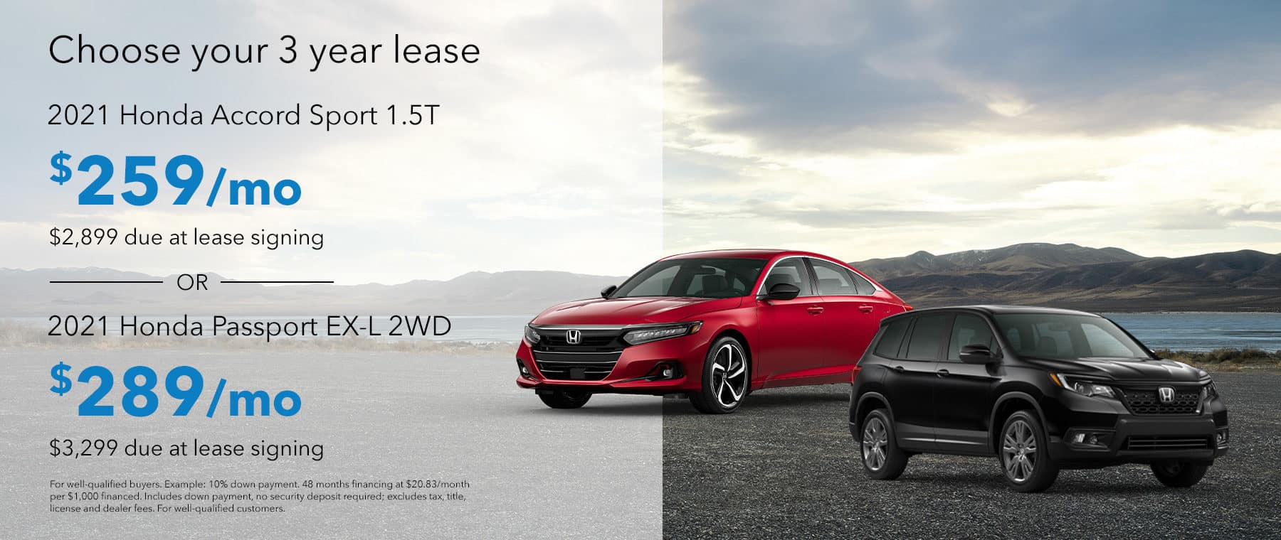 Choose Your 3 Year Lease Between the 2022 Honda Accord and the 2022 Honda Passport