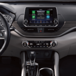 2020 Nissan Altima interior dashboard and steering wheel